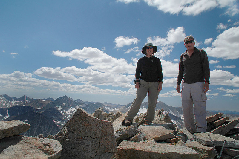 Kathy and me on the summit of Mount Morgan 13,748'.