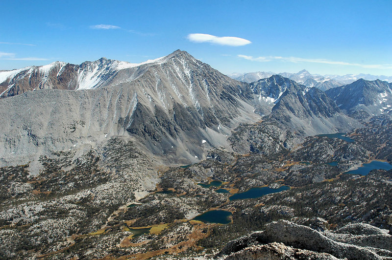 A view of Mount Morgan and Little Lakes Valley taken last year from the summit of Mount Starr.