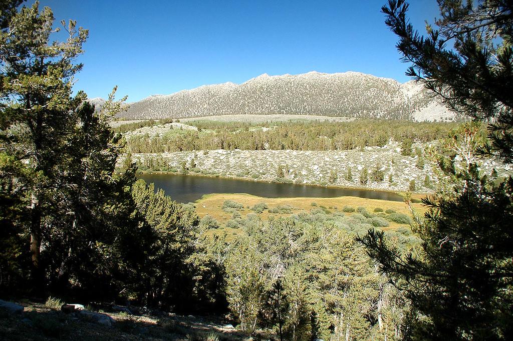 Hiking past Kenneth Lake.
