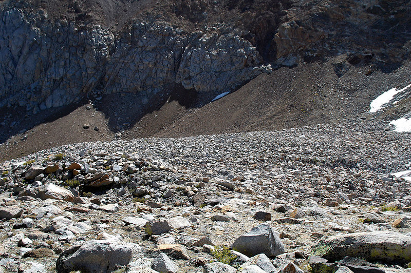 The boulder field down in the canyon I hiked through last weekend. I don't recommend coming up the canyon.