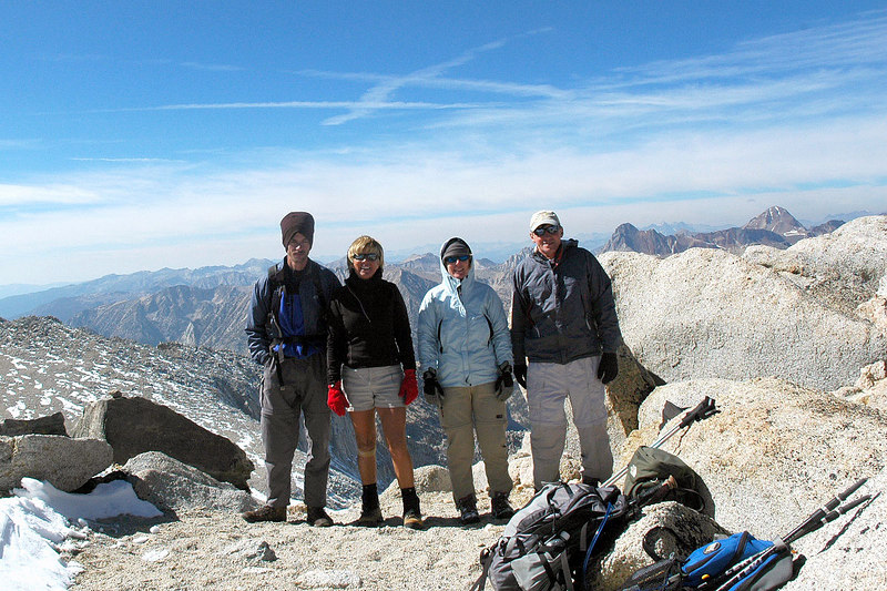 Jay, Sooz, Kathy and me on Mount Starr 12,835'.