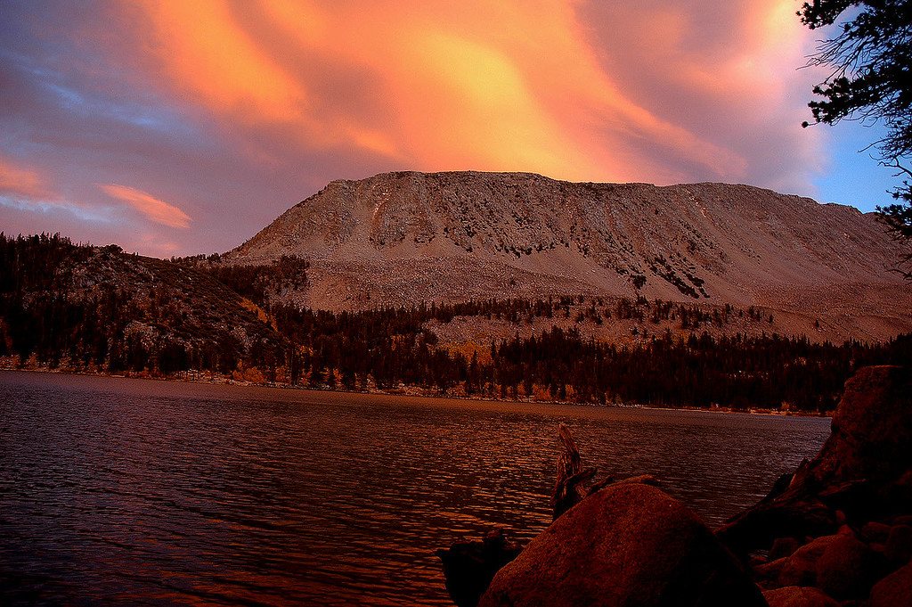 Sunset at Rock Creek Lake.