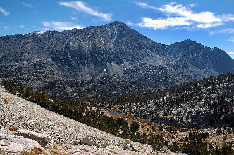 Mount Morgan across the valley.