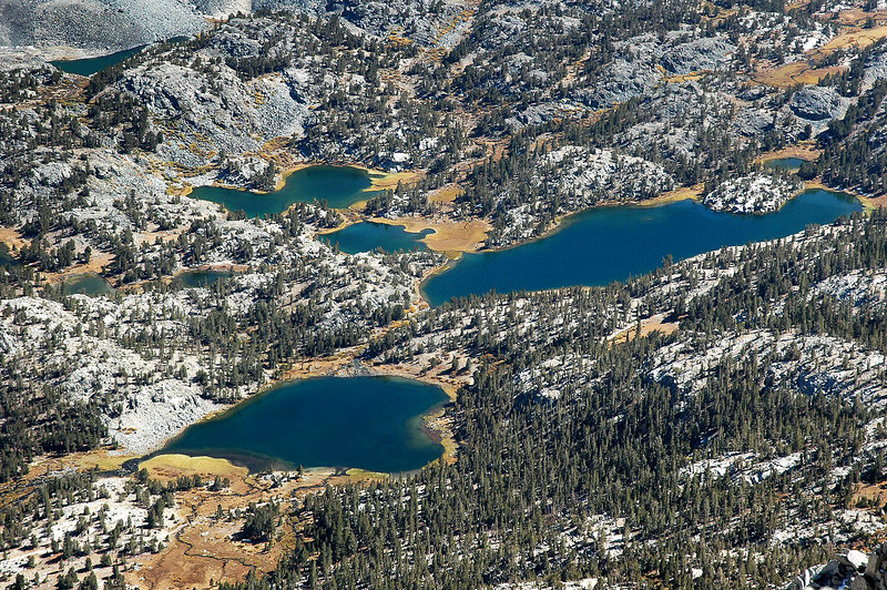 Closer view of Heart and Box Lakes.
