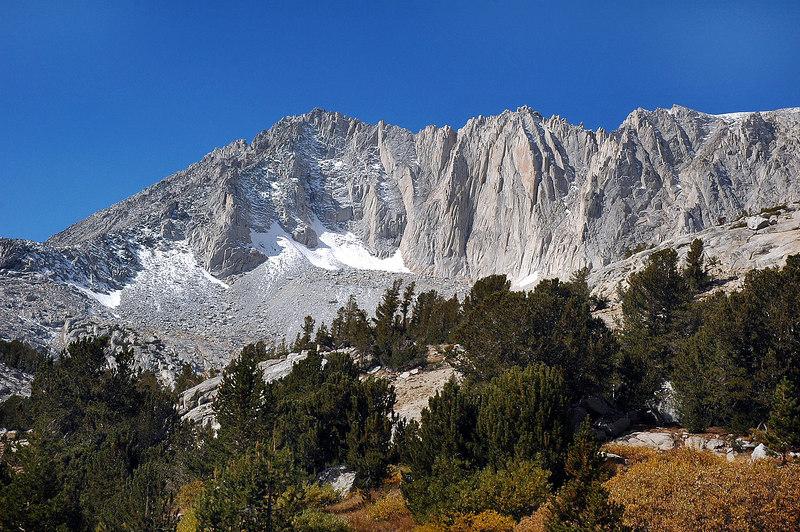 Zoomed in on the peak.