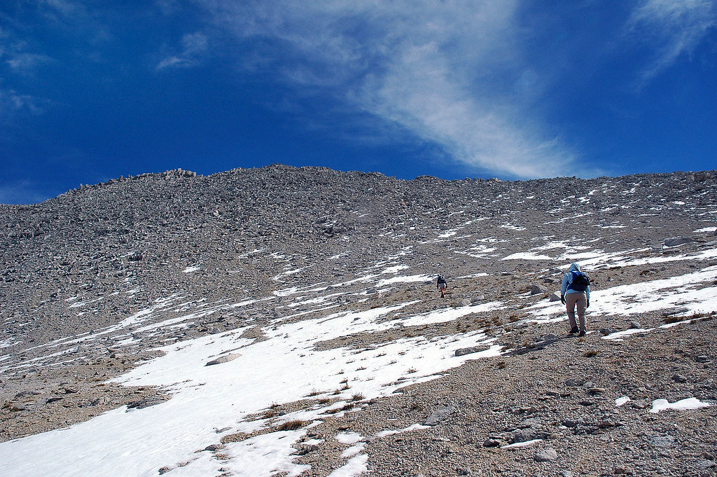 We left the trail at Mono Pass and started up the southwest side of Mount Starr.