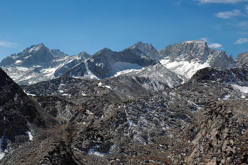 Bear Creek Spire, Mt Dade and Mt Abbot.