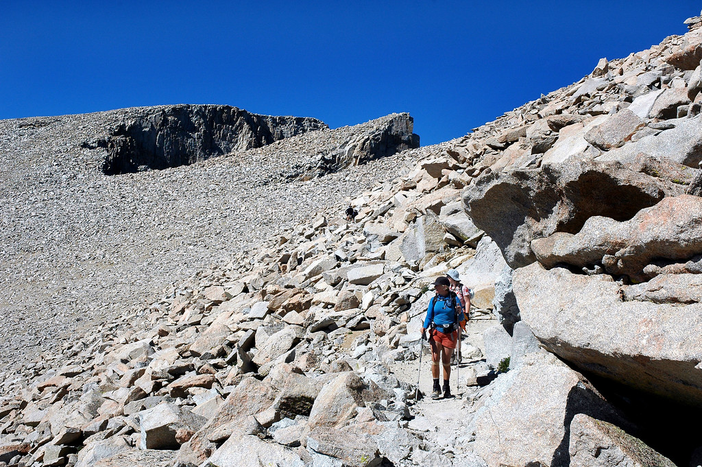 Looking back at Mount Whitney.