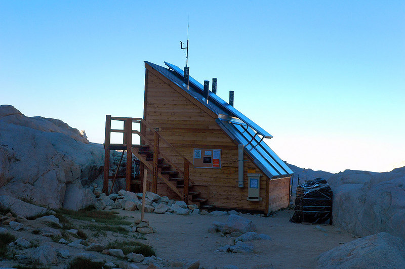 The solar toilet at Trail Camp at 12,000'. It was closed.