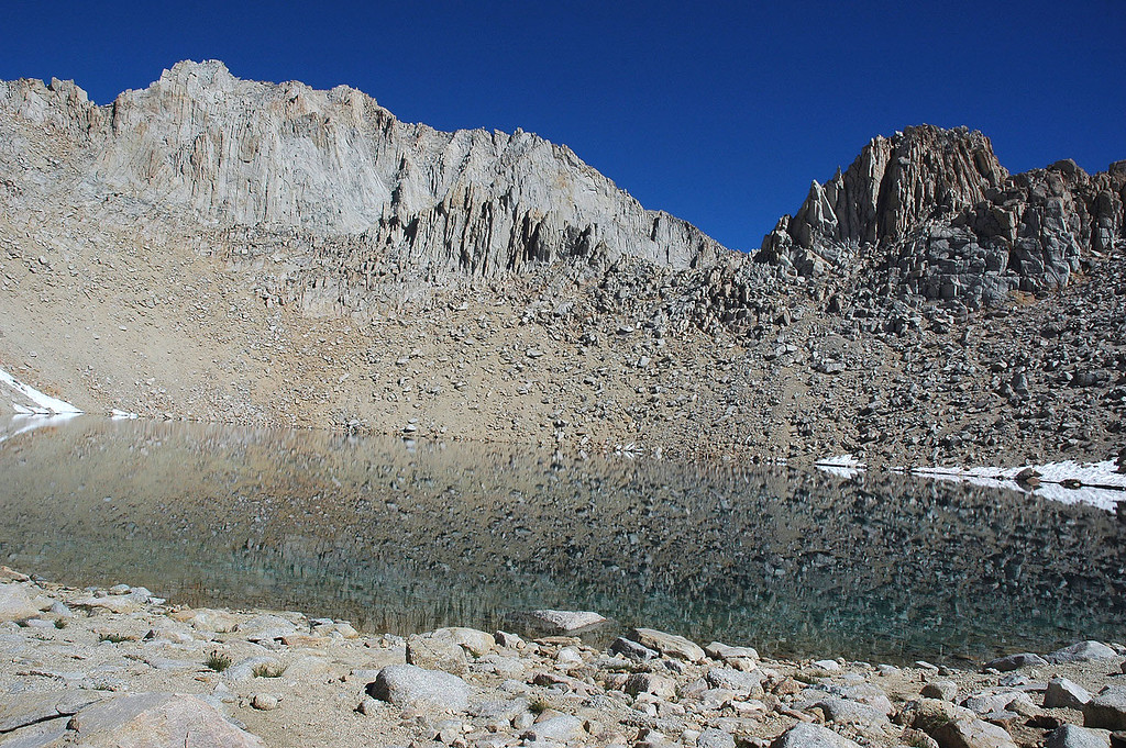 Iceberg Lake at about 12,600'. Mount Russell 14,086' on the left.