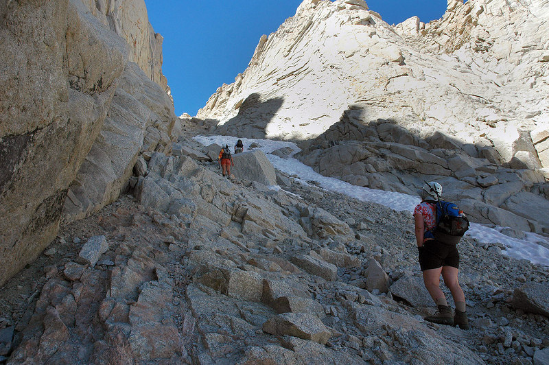 The Couloir got really steep as we neared the notch.