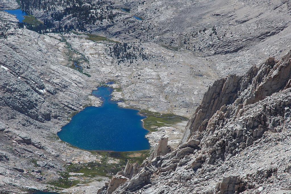 A closer look at Guitar Lake, over 2,000' below.
