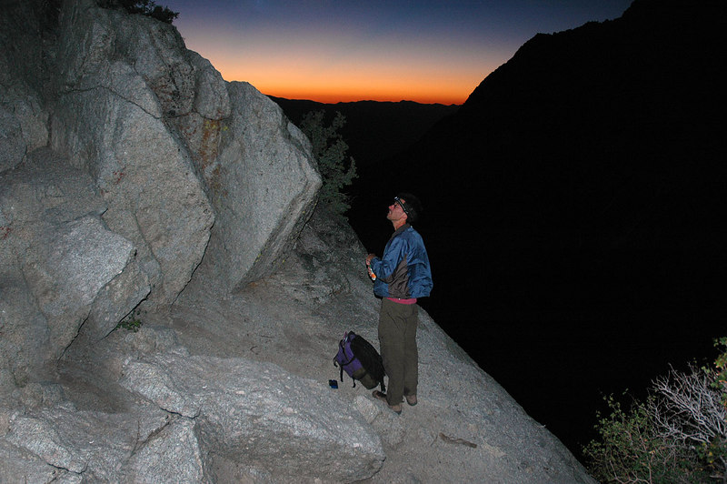 Jay on the Ebersbacher Ledges as the sun sarts to rise.