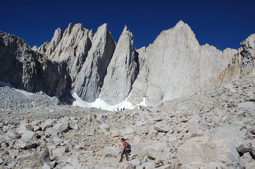 The east face of Mount Whitney.