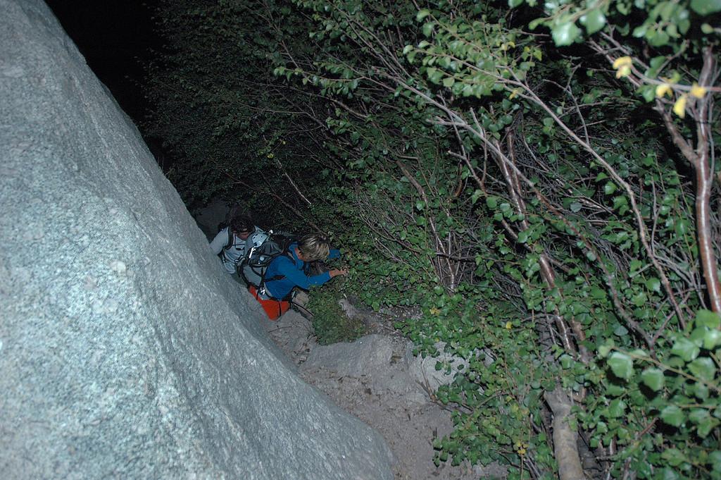 John and Sooz below climbing up to the start of the Ebersbacher Ledges.