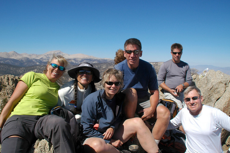 Sooz, Cori, Robin, Tom, Chip and me on Muah Mountain at 11,016 feet.