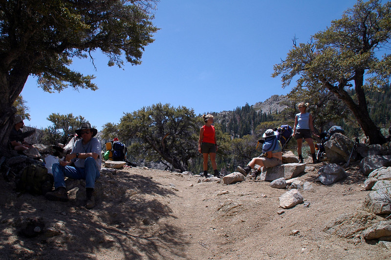 Took a long break on a false pass at 8,700 feet. Olanch Pass is about three quraters of a mile further up the trail.