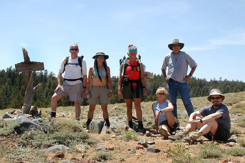 Group shot on Olancha Pass at 9,200 feet.