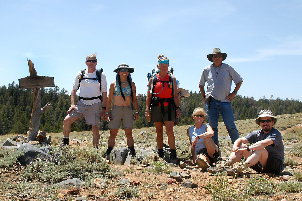 Group shot on Olancha Pass at 9,200 feet.