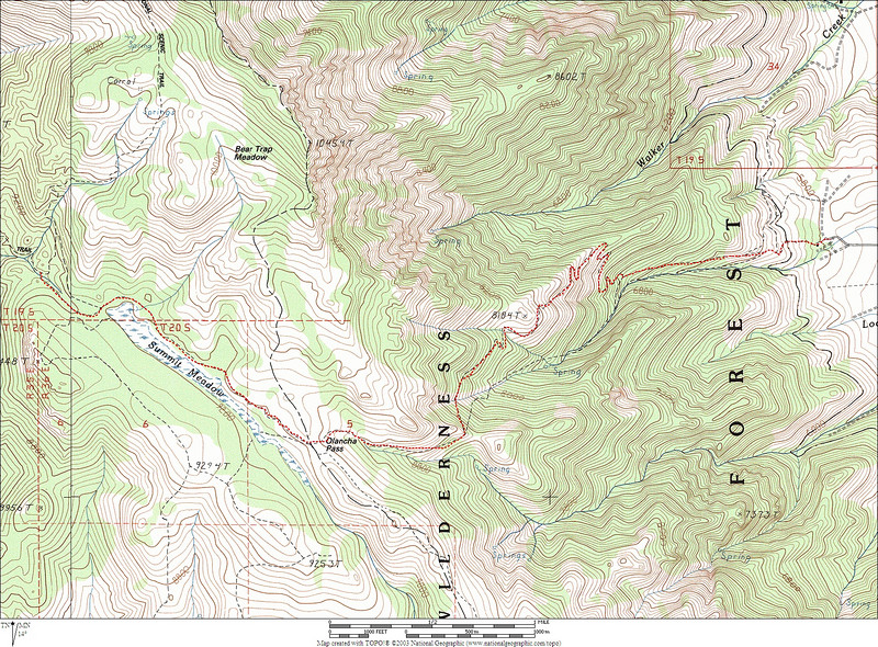 Map showing the hike. We ended up hiking about 12.5 miles.<br /> <br /> THE END