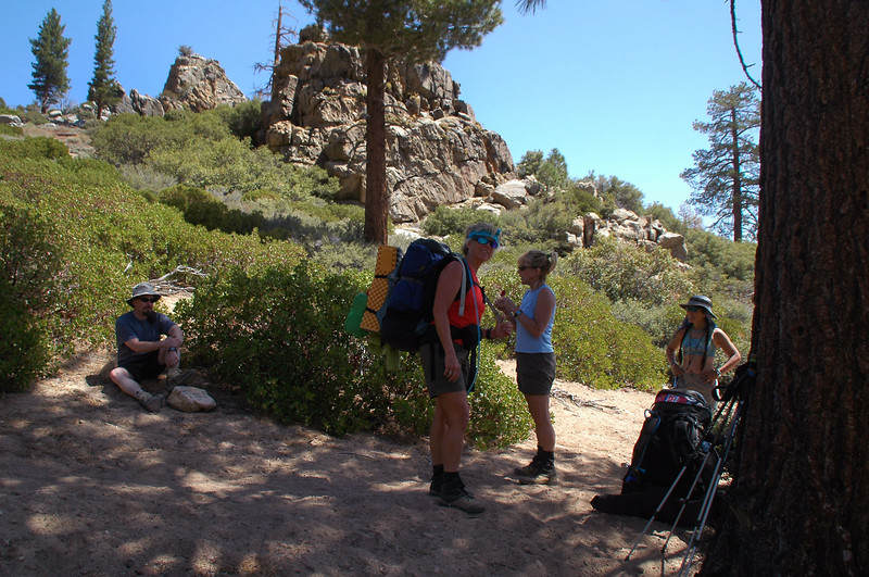 We took a short break here in the shade. Temps were a little on the warm side.
