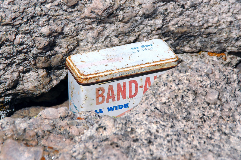 The summit register was in a Band-Aid box.