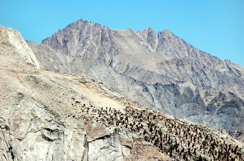 Trojan Peak and Mount Williamson to the northwest.