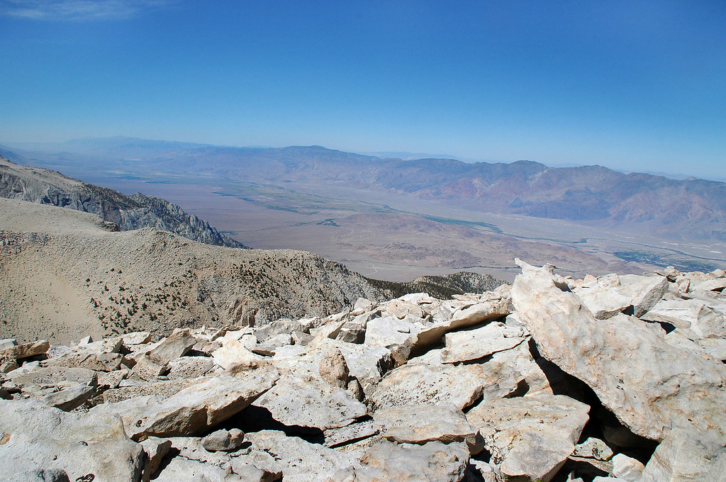 The Owens Valley and the Inyo Mountains.