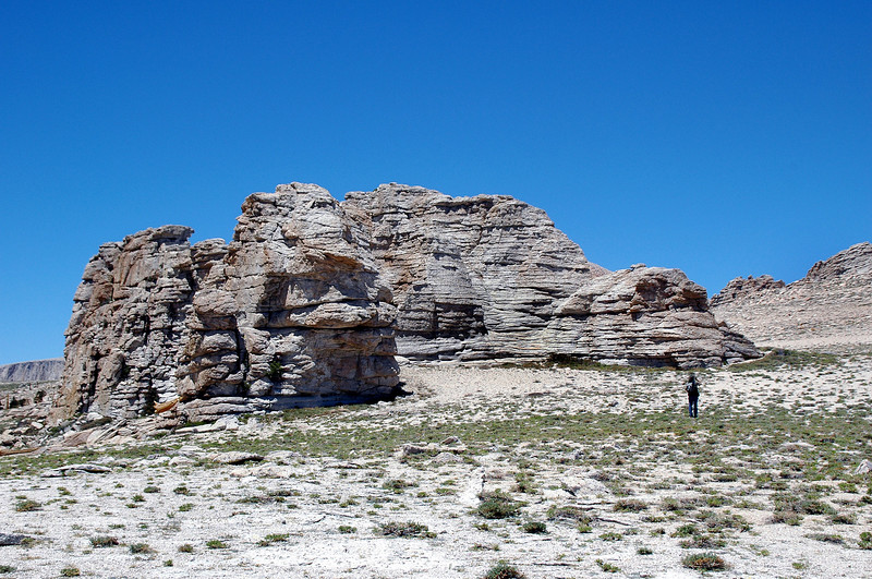 We past some nice looking rock formations.