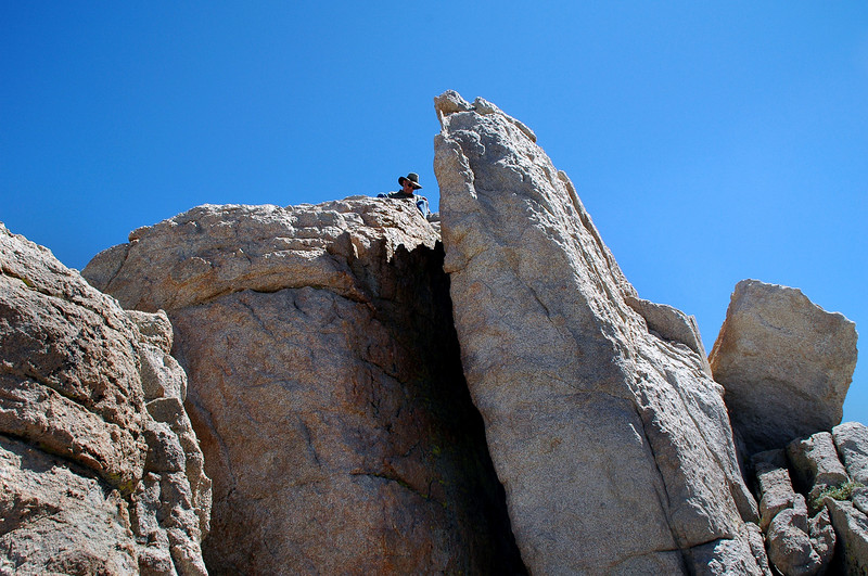 By the time I made it over the false peak, Tom was already on the real one.
