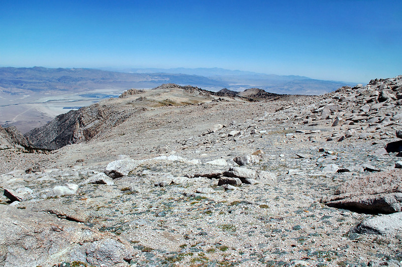 Looking back on Owens Point, the highest peak. This is where the route gets a little steep.