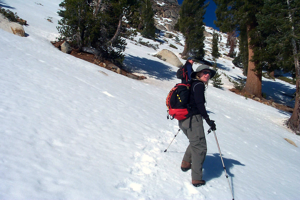 At this point we lost the trail around 10,000 feet, so we just kept climbing towards the summit.