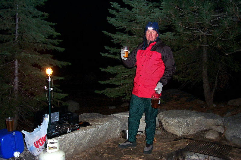 John had some home brewed beer with him. Great stuff!!! Doing Alta Peak in the snow was a lot of fun. Especially boot sking down the chute. <br /> <br /> THE END