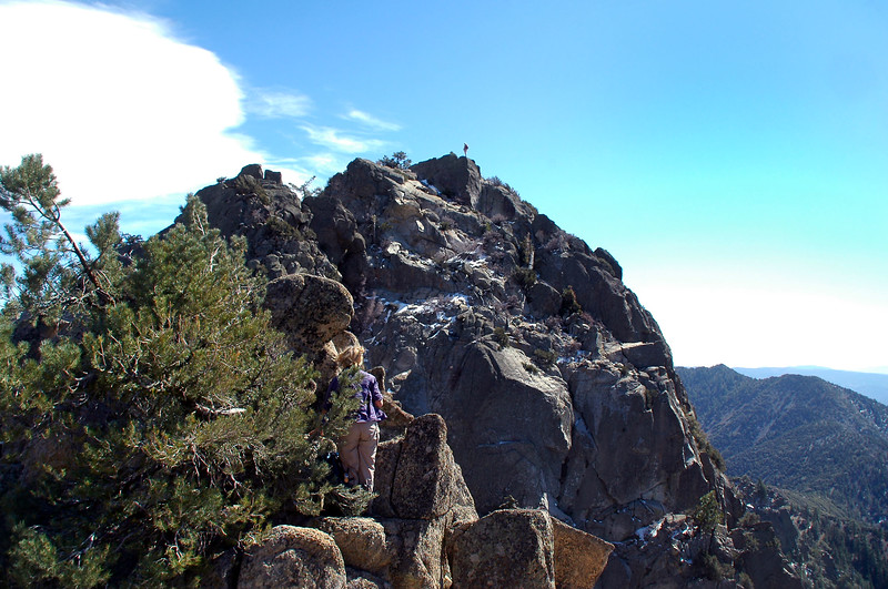 This shot shows John on the summit of Spanish Needle. Tom was still climbing to the peak while the rest of us decided the climb was to much to handle.