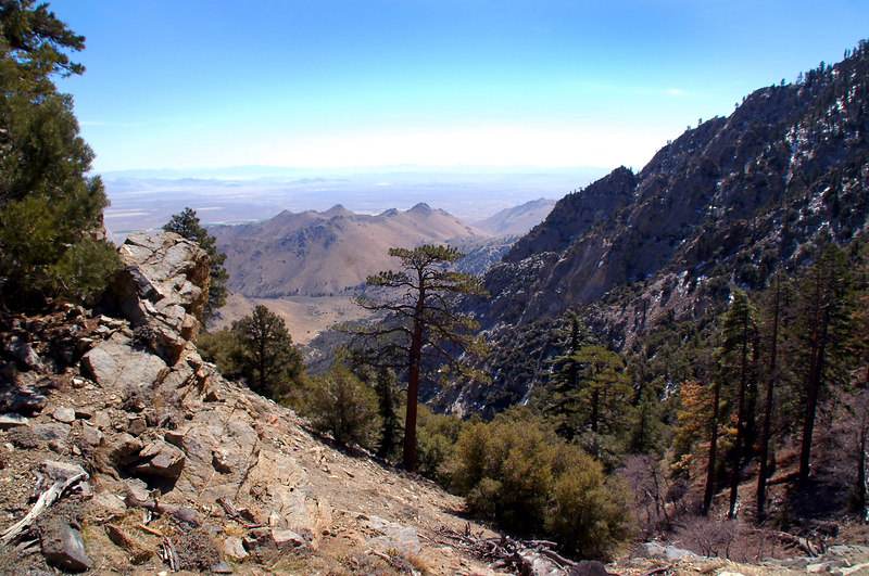 View to the southeast from the saddle.