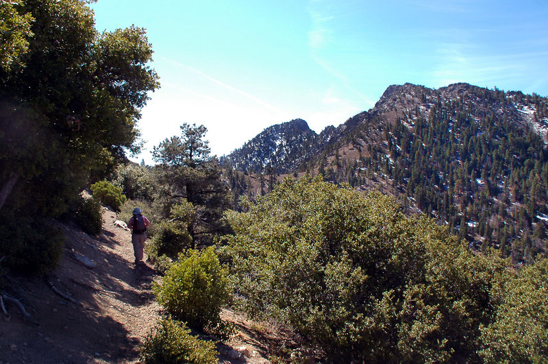 This is our first good view of Spanish Needle, the peak on the left.