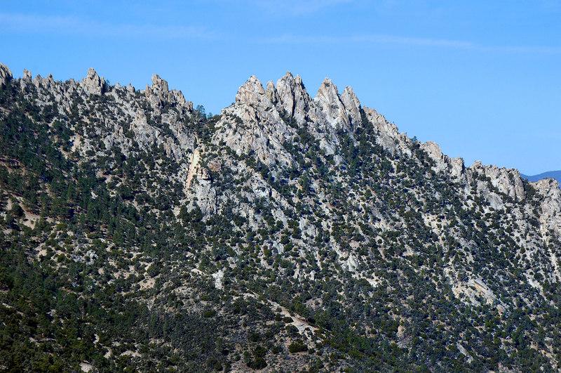 Zoomed in on Lamont Peak.