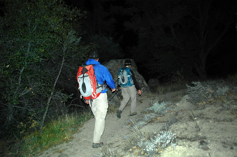 We did the last hour of the hike in the dark.