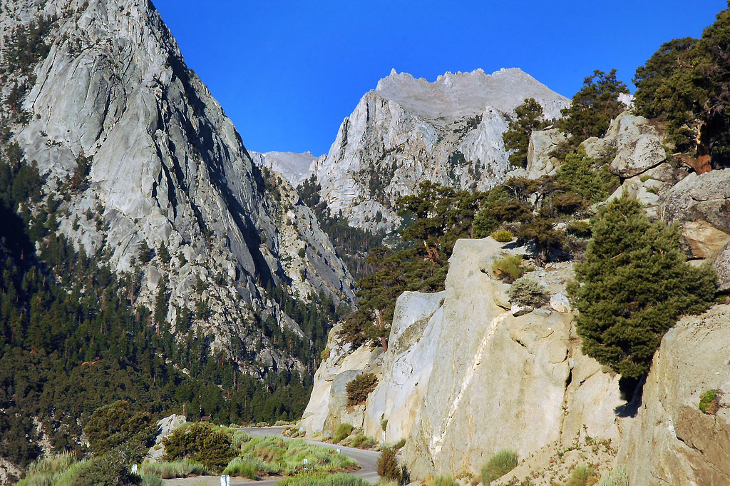 View of Thor Peak from the Whitney Portal Road.