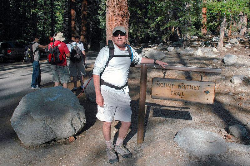 Joe, me at the Mount Whitney Trailhead. The hike to Thor Peak starts here at 8,300 feet.