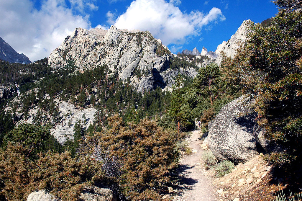 On the Whitney Trail. The top of Thor Peak shows from behind the ridge.