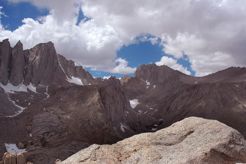 Mount Russell at 14,086 feet to the north of Whitney.