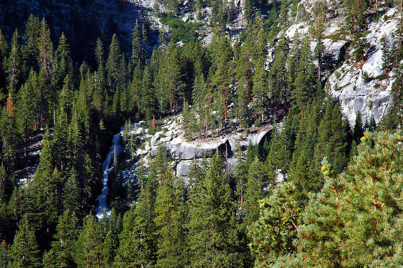 The Portal waterfall from the trail.