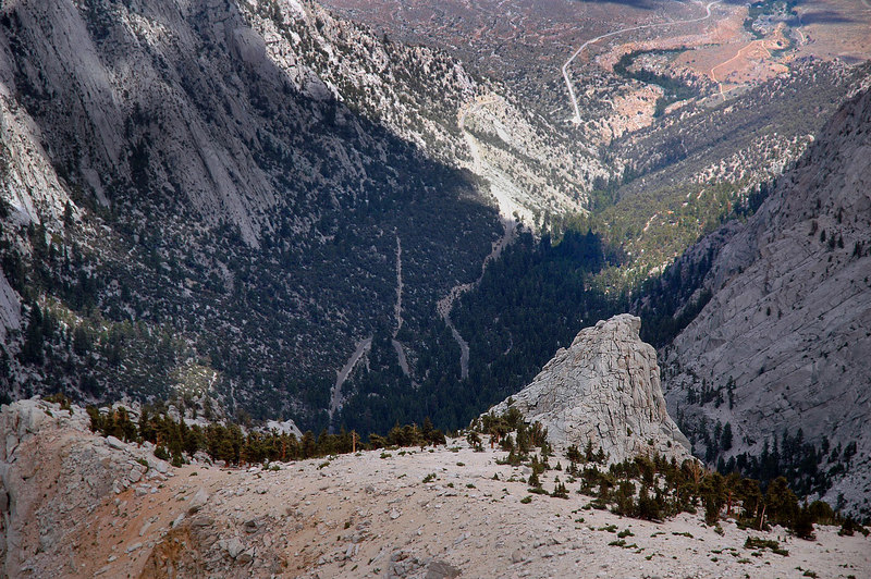 The road leading to the Whitney Portal.