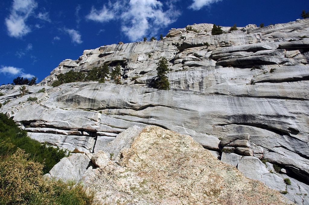 This is the section of the ledges you have to climb to reach the upper part of the trail.