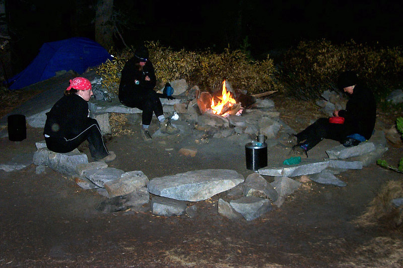 We had a cool campsite. This made a great cooking area.