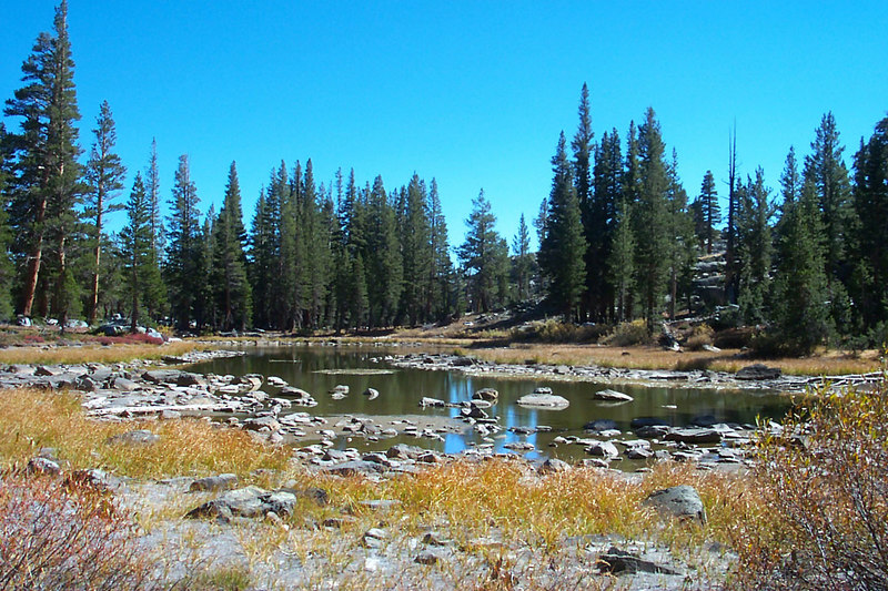 One of the Badger Lakes just off the trail. We saw a couple of deer near here.