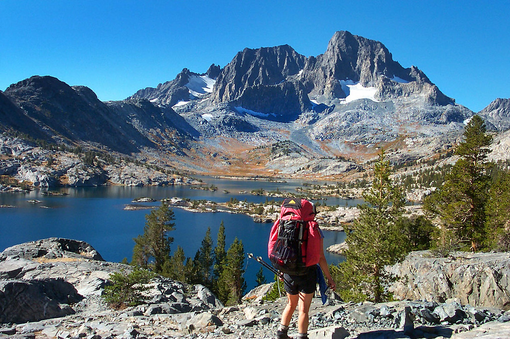 A great view of Mount Ritter and Banner Peak as we approahed Garnet Lake.