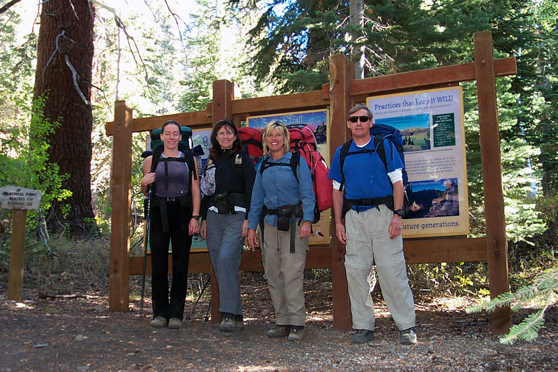 Lori, Susan, Sooz and Joe(me) at the High Trail Trailhead at 8,400'.
