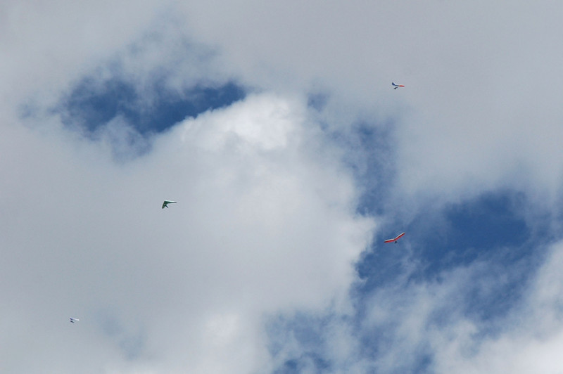 The hang gliders were up.